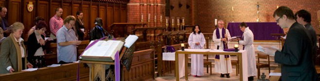 A chapel service at a theological college in Australia.