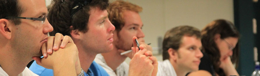 Students at a bible seminary in Australia.