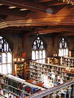 A bible seminary library in Canada.
