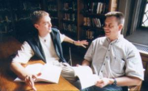 Students at a theological seminary in Canada.